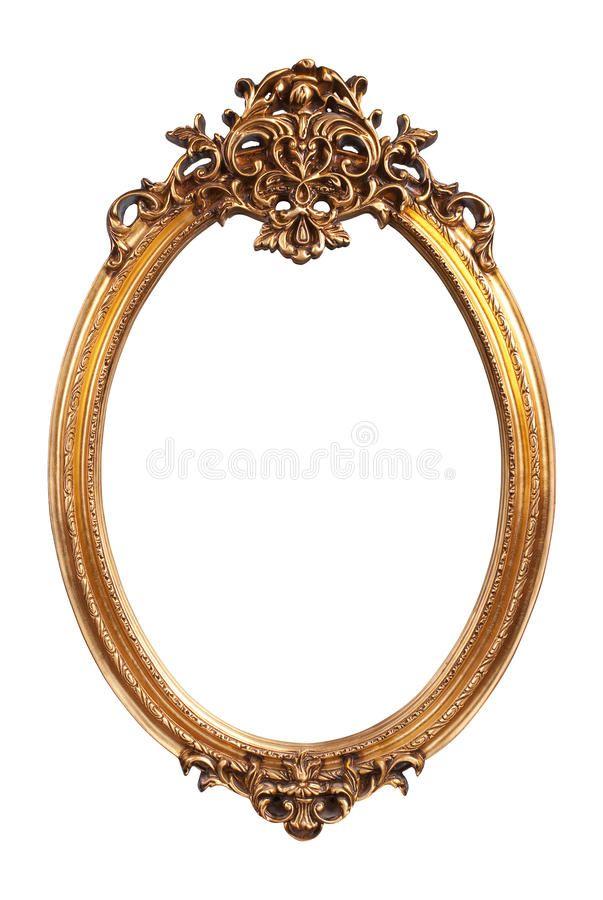 Oval Gold Vintage Frame Gold Vintage Frame Isolated On White Background Aff Vintage Frame O Antique Picture Frames Gold Picture Frames Antique Frames