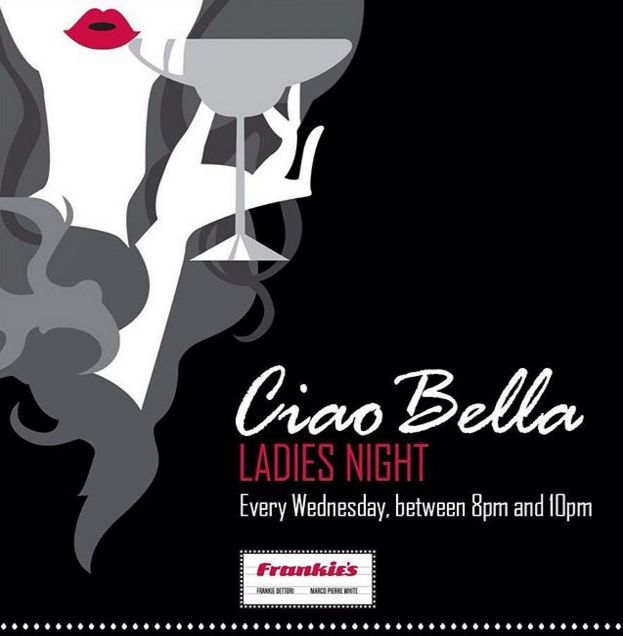 Ciao Bella! Brand new Ladies' Night that has just been launched at Frankie's Italian, JBR, Le belle donne receive two complimentary sparkling cocktails and canapes from 8pm! On every Tuesday