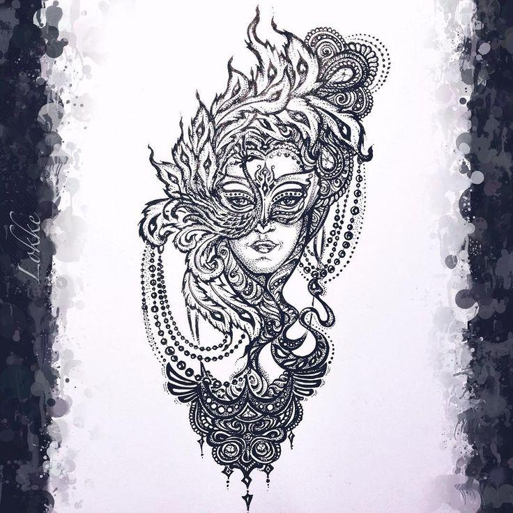 #art #artist #artwork #tattoo #tattoopins #topcreator #wowtattoo #ink #idraw #paint #penandink #draw #illustration #рисунок #карандаш #арт #орнамент #Mask #маска #татуировка #тату