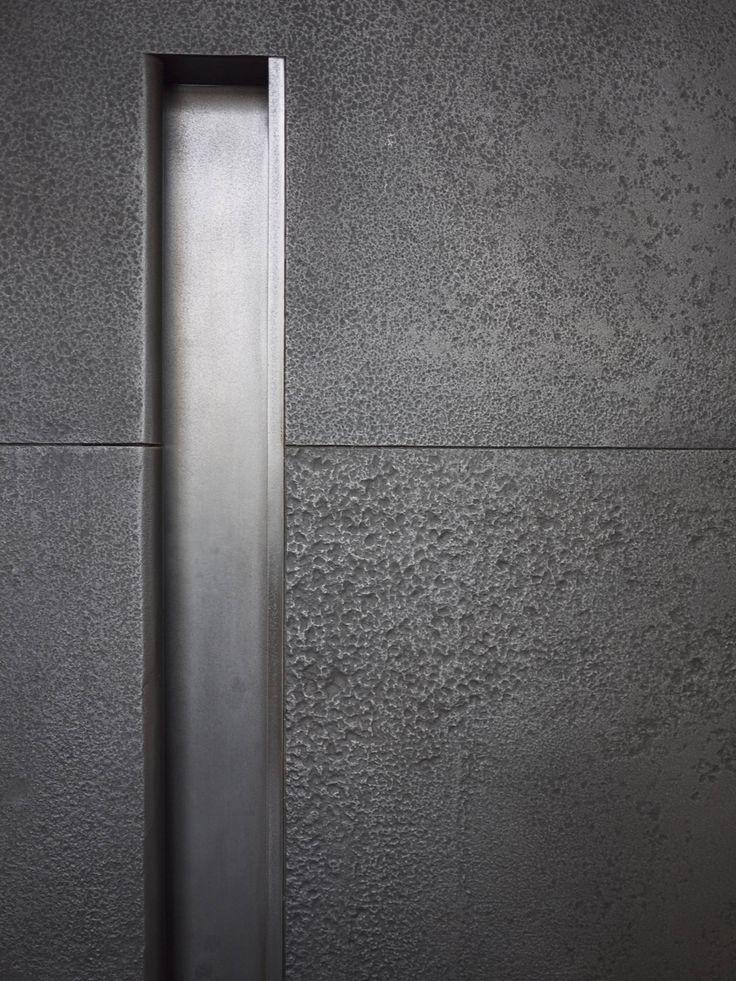 Steel Offset Pivot Entry Door Grip Handle Detail Hotel