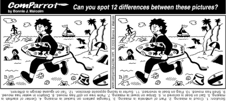 spot the difference puzzles pdf