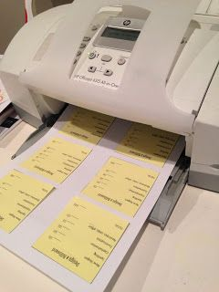 Setting up and printing mini Post-it rubrics