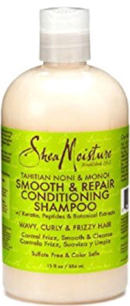 Shea Moisture Tahitian Noni & Monoi Smooth & Repair Conditioning Shampoo 13oz #SheaMoisture