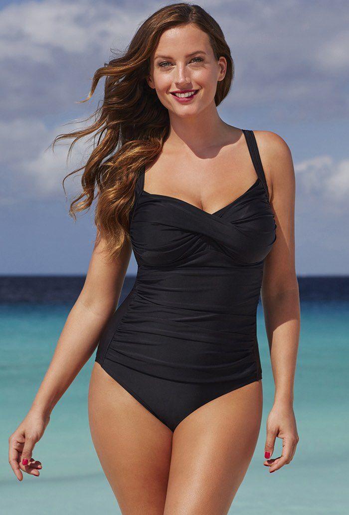 Shore Club Black Twist-Front Swimsuit