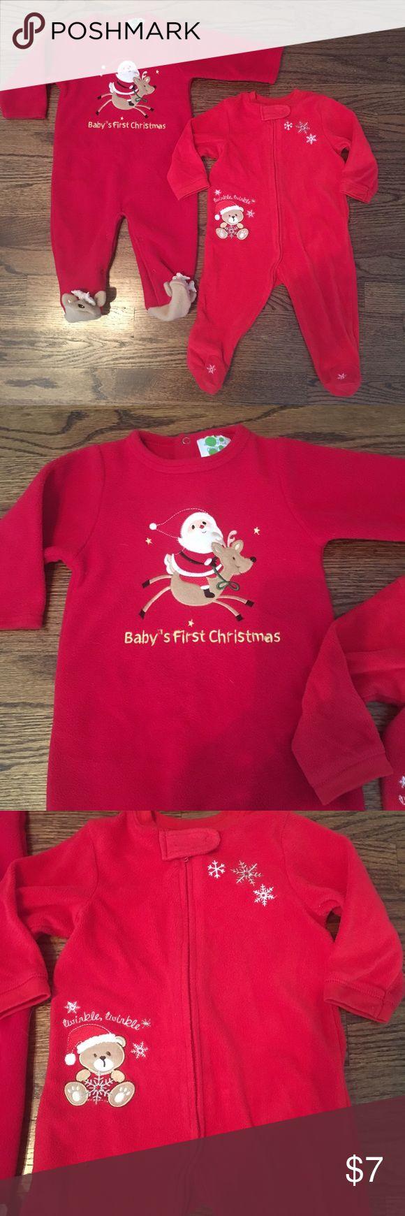 9m Christmas footie pajamas .Christmas footie pjs. Good condition. Very soft fleece One Pieces Footies