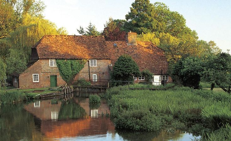 A mill house on the River Test in Wherwell, Hampshire