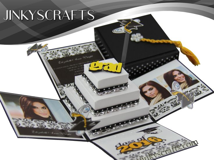 Elegant, Unique, Modern 2013 Exploding Box Graduation Invitation or Graduation Announcement.