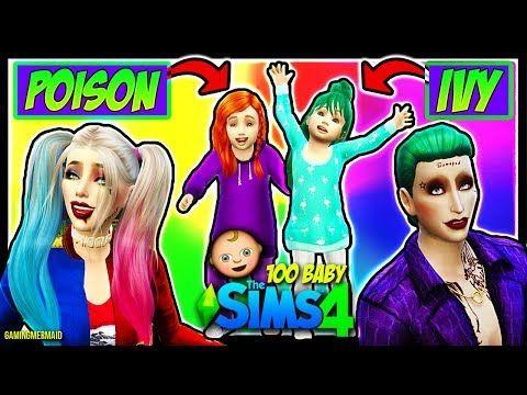HARLEY QUINN FLIRTING WITH BATMAN?! | The Sims 4: 100 Baby Challenge | HARLEY QUINN AND JOKER | Ep 9 - YouTube