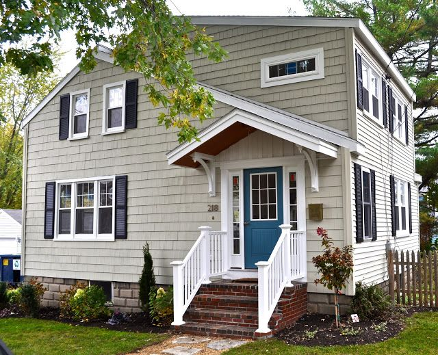 House Exterior Colors SoPo Cottage: Curb Appeal   Before And After Diamond  In The Rough
