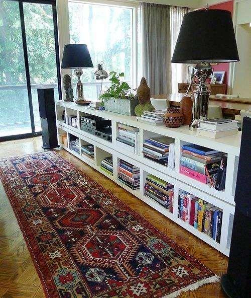 Best 20 bookshelf room divider ideas on pinterest room for Sofa table rules