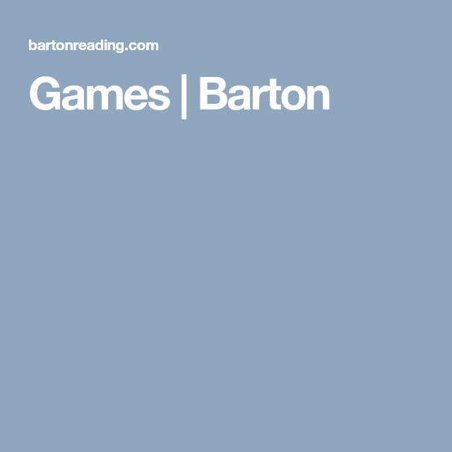 Games | Barton