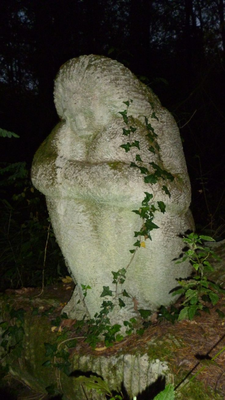 Casoaia in Arad, Romania----sculpture in the woods---