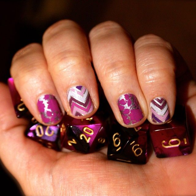 """""""Critical mani! Can't wait to show off my #Jamberry at our #Pathfinder game tomorrow. #HappilyEverAfterJN #GirlTalkJN #RubyOnNails"""""""