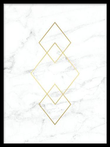 Poster Med Guld Och Marmor Sovrum Guld Bakgrund