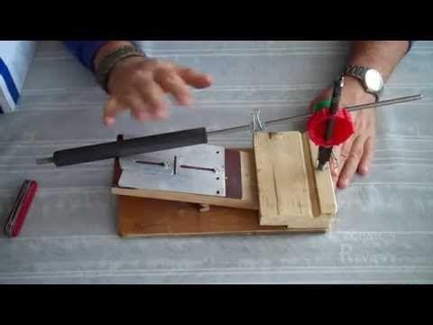 Самодельная точилка для заточки ножей обзор. - YouTube