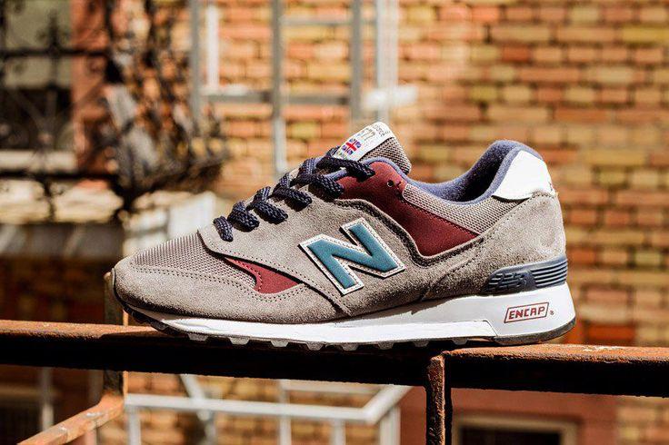 "New Balance 577 D ""Grey/Burgundy"" Sneakers men fashion"