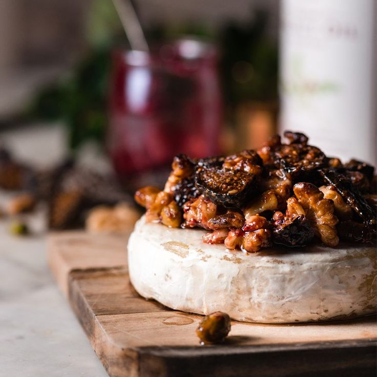 This simple holiday appetizer is sure to please any crowd at your next cocktail party. Warm, gooey Brie cheese is topped with sweet figs, toasted walnuts and a healthy drizzle of Roasted Walnut Oil. Add some rustic crackers or crusty bread, and you are set for a delicious celebration.