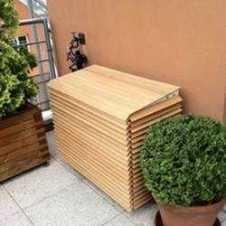Habillage 4 faces en bois pour groupe extérieur de climatisation et PAC taille 3