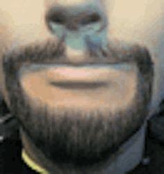 BMG218 <br>Fake Beard Set <br>Goatee & Mustache <br>100% Human Hair  <br>Glue On