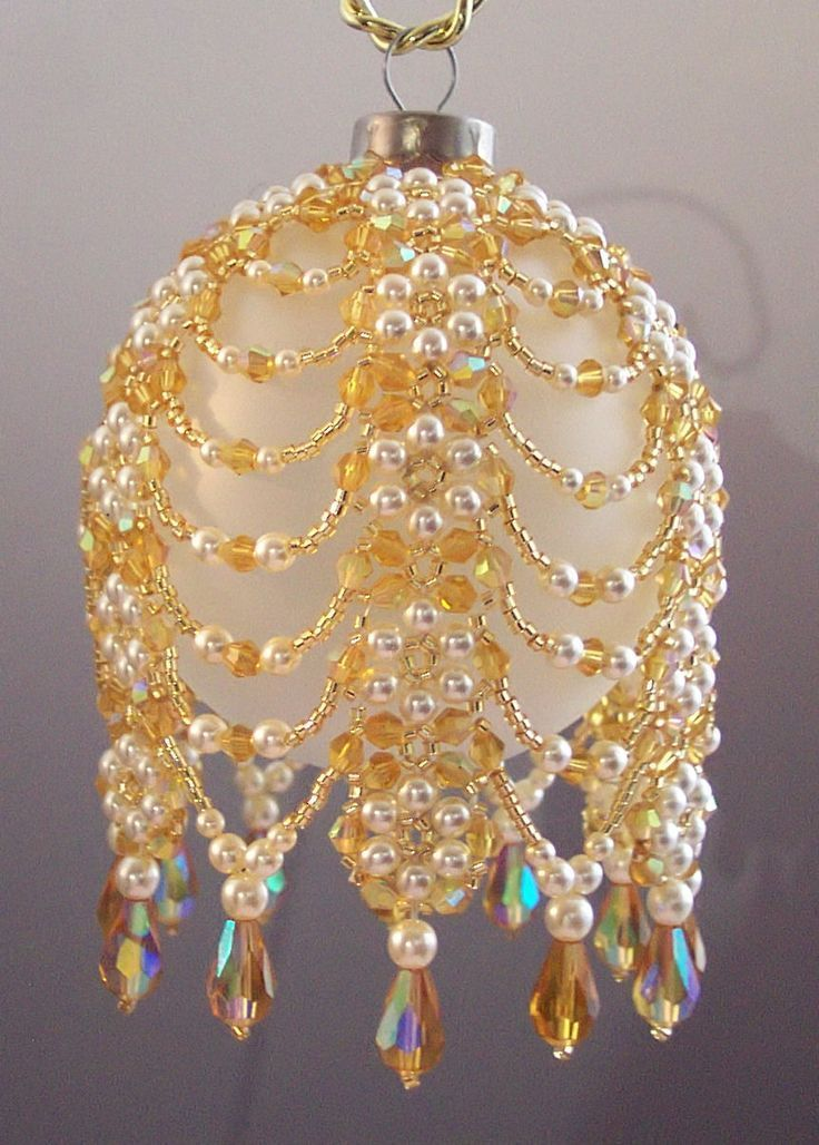 Free  Beaded  Christmas  Ball  Covers  |  exquisite  hand  made  ornaments