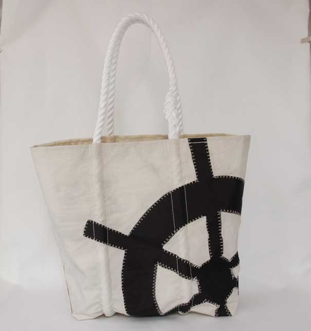 Wheel Design Bag: Another one from sea bags. I love that these bags are made of from old sails :)