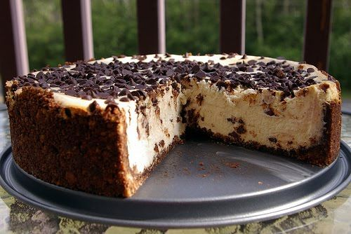 "Recipe | Chocolate Chip Cheesecake ~ ""This is the best cheesecake I've ever had. People have offered to pay me to make these for them during the holidays!""—Jessica"