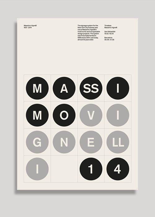 SocioDesign – Massimo Vignelli tribute poster