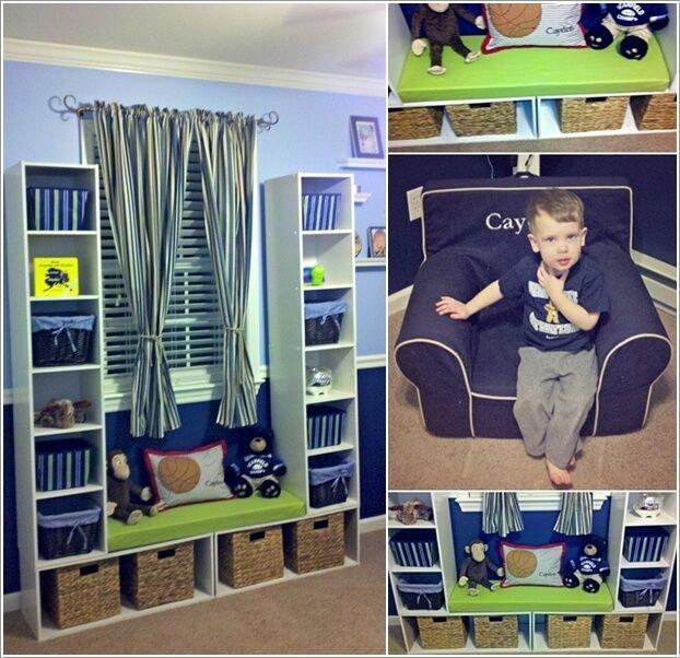 Гениальный способ добавить дополнительное место для хранения в номер 5 ваших детей