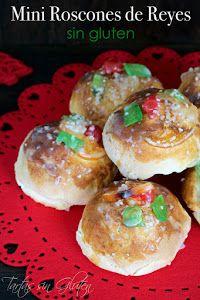 Disfruta del Roscón de Reyes en versión mini con esta receta de TARTAS SIN GLUTEN. Además, esta versión es apta para celíacos.