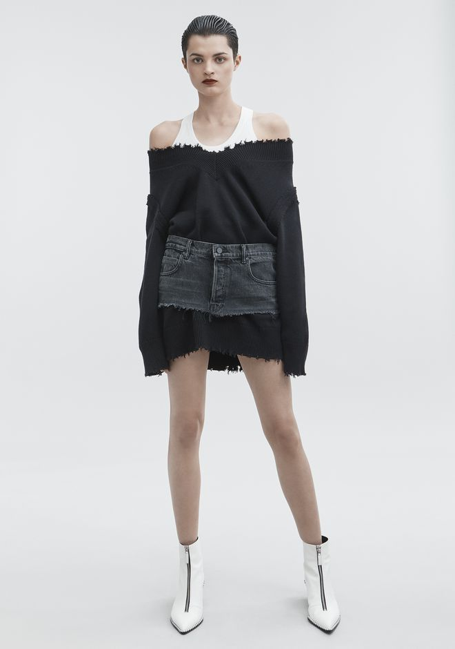 7dbf51092 T by ALEXANDER WANG V-NECK DRESS KNIT DRESS Adult 12_n_f | daily ...