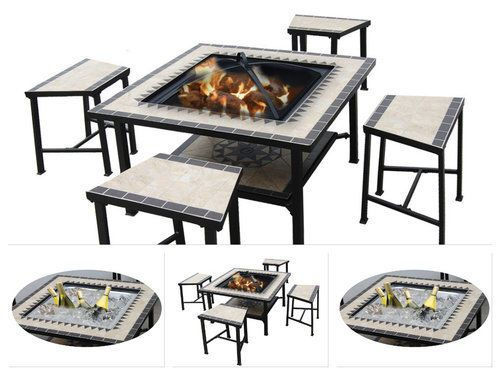 Fire-Pit-Table-Set-Wood-Burning-Fireplace-Dining-Stools-Outdoor-Patio-Furniture