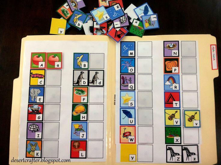 Pre-K File Folder Printables | Desert Crafter: More File Folder Games for Preschoolers