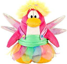 Disney Club Penguin 6.5 Inch Series 4 Plush Figure Rainbow Faery (Includes Coin with Code!)