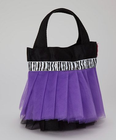 Take a look at this Black & Purple Zebra Tutu Tote by My Princess Academy on #zulily today! ... wouldn't this be fun to carry around those have-to-have-with-you special items when you're 9? ... J