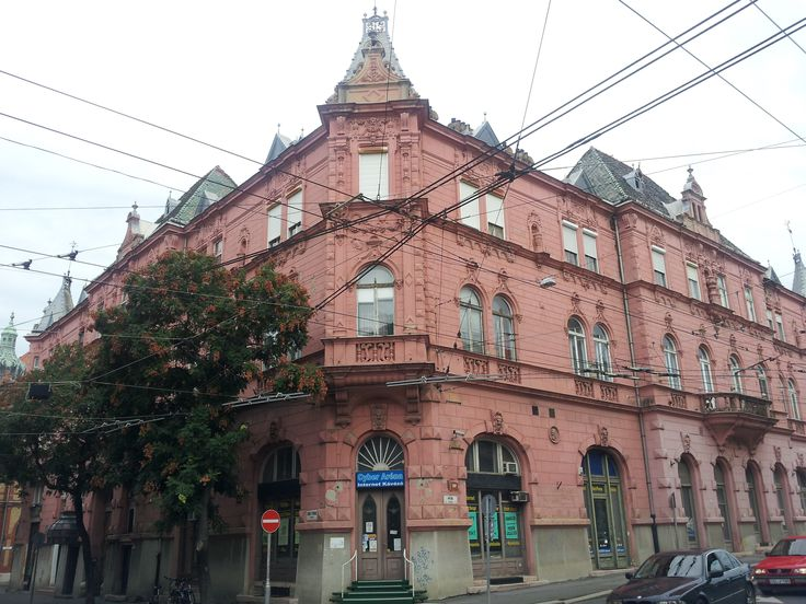 Corner house on the main Ave in Szeged, Hungary