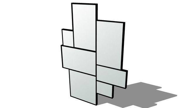 miroir AXEL, Maisons du monde. Réf: 146549, Prix: 109,90 € - 3D Warehouse