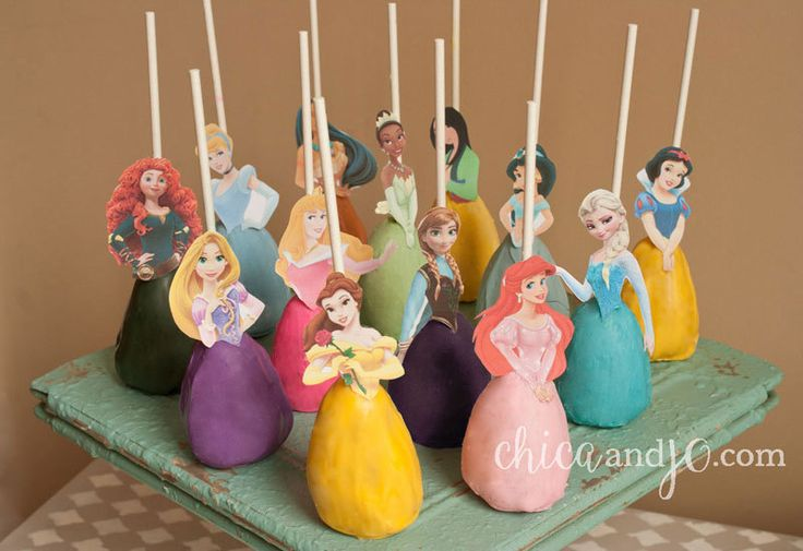 Disney Princess Cake Pop Topper Printable - DIGITAL - All 13 princesses (Also works as Cupcake Picks and Candy Apple Topper!) by chicaandjo on Etsy https://www.etsy.com/ca/listing/201764024/disney-princess-cake-pop-topper
