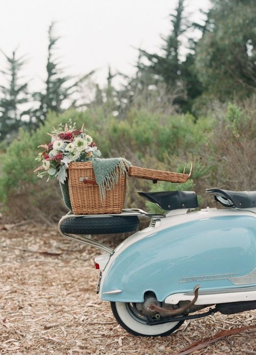 Lambretta with a basket