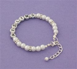 Personalised Communion Bracelet. Any little girl would love this  bracelet to wear on her special day and as a keepsake for years to come. WowWee.ie | €31.99