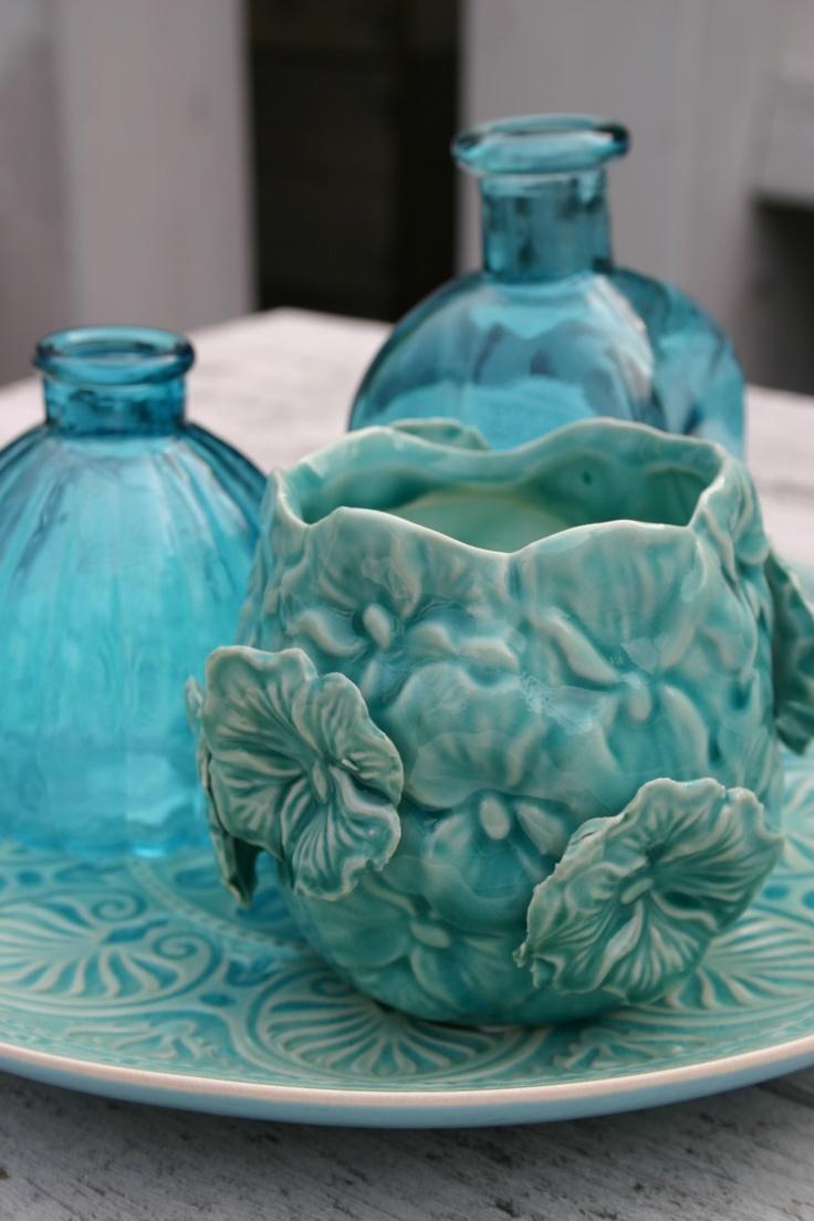 Cottage Charm & Colors - Aqua Blue, Turquoise