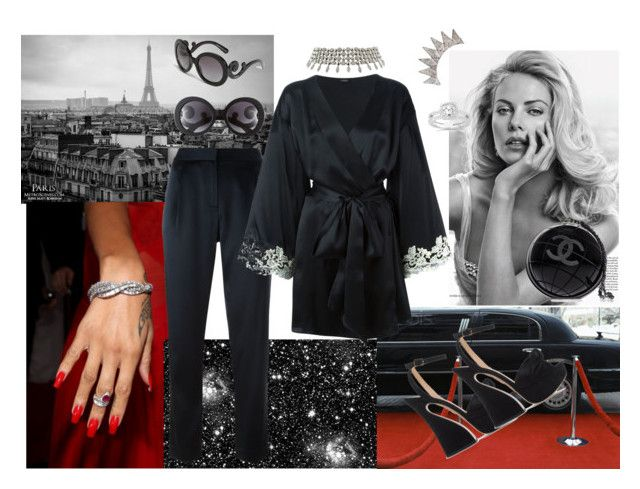 """""""Untitled #221"""" by raphaelaelena on Polyvore featuring Prada, Annello, Bulgari, T By Alexander Wang, Charlotte Olympia, La Perla, Chanel, women's clothing, women and female"""