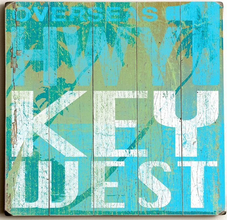 Highway Key West Custom Sign: Beach Decor, Coastal Decor, Nautical Decor, Tropical Decor, Luxury Beach Cottage Decor