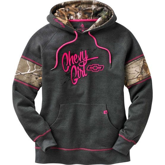 Women's Realtree Camo Muddy Buddy Chevy Hoodie at Legendary Whitetails