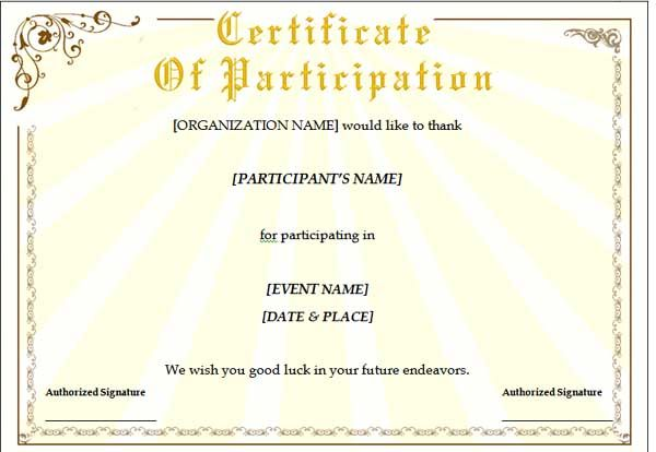 Training Certificate Template The template can help one in the - Certificate Word Template