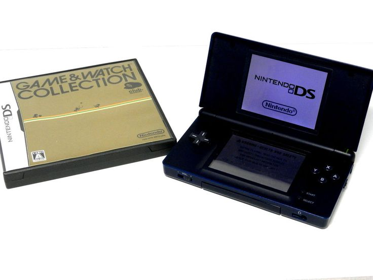 Nintendo DS Lite USG-001 (Enamel Navy Japan Ver.) + Game & Watch Collection_40 | eBay