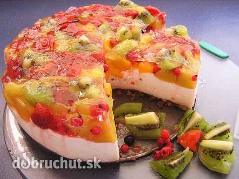 Fotorecept: Tvarohovo ovocná torta
