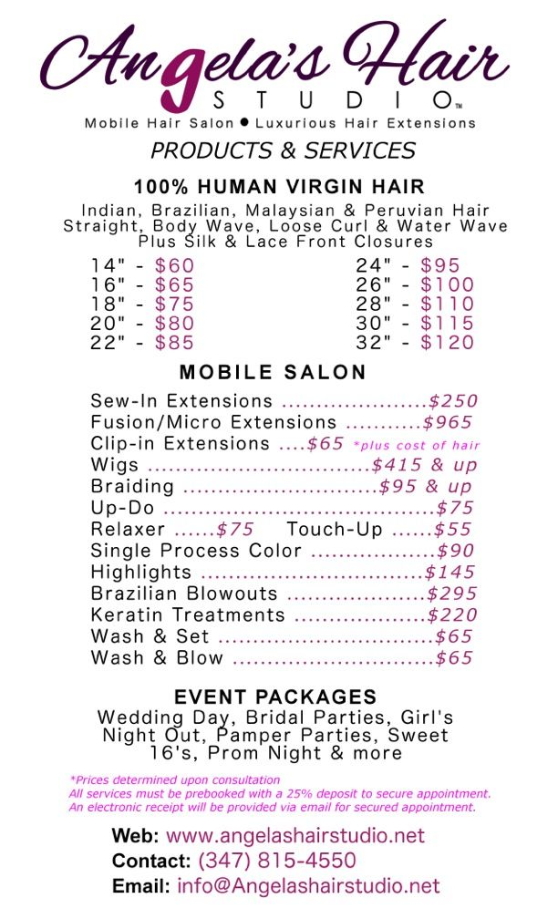 Fusion Hair Extensions Price List Human Hair Extensions