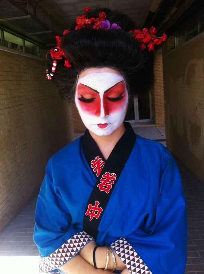 Make up gueisha caracterización