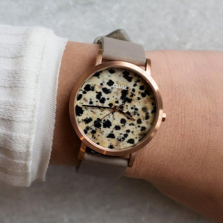 AVAILABLE SOON: La Roche Petite Dalmatian ✨    Our brand new limited edition collection will be here soon and is ready to transform your look  Each dial is made out of real dalmatian stone, with a completely unique pattern    Get ready for the official launch of the collection on 23/03/2017 (available already, only at our pop-up store in @Citadium, Paris) #CLUSE #daretobeunique