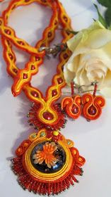 RoszaArt soutache necklace jewellery hand made